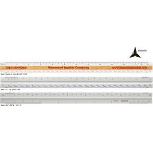 "Triangular Architectural Ruler / High Impact Styrene (12"")"