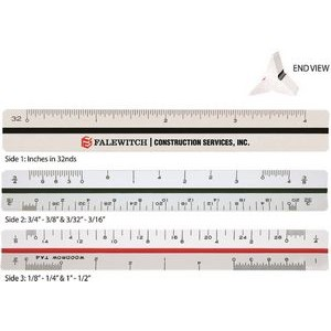 "Triangular Architectural Ruler / High Impact Styrene (4"")"