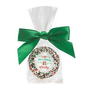 Favor Bag w/ Chocolate Covered Oreo® Pop w/ Holiday Nonpareil Sprinkles