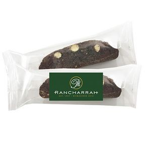 Individually Wrapped Biscotti - Chocolate Almond