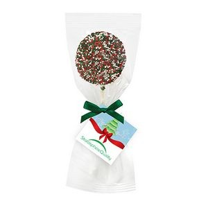 Chocolate Covered Oreo® Pop w/ Holiday Nonpareil Sprinkles