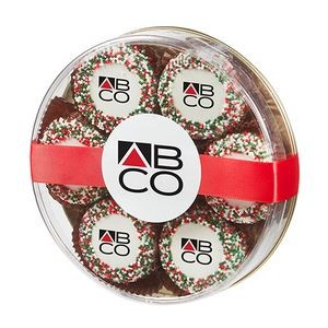 Custom Belgian Chocolate Covered Oreo® Gift - Holiday Nonpareil Sprinkles