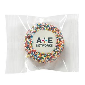 Printed Chocolate Covered Oreo® Cookies - Rainbow Nonpareil Sprinkles/Printed Cookie