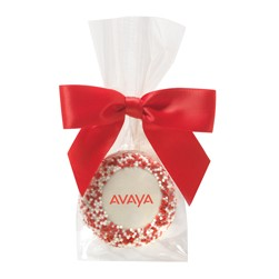 Favor Bag w/ Chocolate Covered Oreo® Pop w/ Corporate Nonpareil Sprinkles