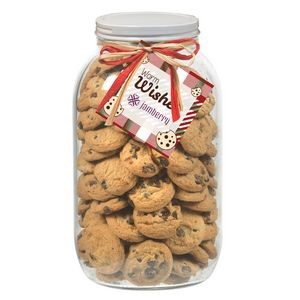 64 Oz. Glass Mason Cookie Jar (Mini Chocolate Chip Cookies)