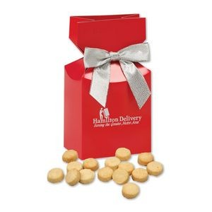 Gourmet Bite-Sized Lemon Meringue Cookies in Red Premium Delights Gift Box