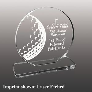 Golf Themed Etched Acrylic Awards - Small
