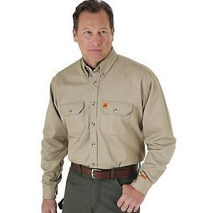 Wrangler Riggs Workwear Womens FR Flame Resistant Western Long Sleeve Snap Work Shirt
