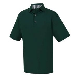 FootJoy Men's Solid Lisle Self Collar Polo